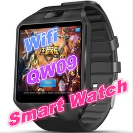 Wholesale Android Mtk6572 - QW09 wifi smart watch PK DZ09 bluetooth 3G reloj android 4.4 MTK6572 RAM 512MB+ROM 4GB Smartwatch Para Android ios