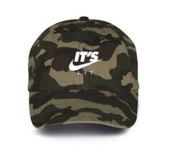 Wholesale Custom Flat Caps - camouflage It's Lit Custom Camo Unstructured Baseball Dad Hat 6 panel Cap New TRAP JUST DO IT Air Japan Air Tokyo baseball Cap