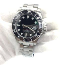 Wholesale new stainless - New SEA-DWELLER 43mm Mens Watch Automatic Movement Sweep Mechanical Ceramic Bezel Sapphire Glass Original Clasp AAA Quality