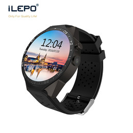Wholesale Gsm Phone Android Wifi - KW88 round screen smart watch with phone GSM WCDMA 850 Android wifi APP download install smart phone watch for men