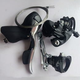 Wholesale Shifter Road - RB microSHIFT 8 Speed Derailleur Groupset Road Bike Front Derailleur Rear Derailleurs Shifter Lever Cables Fit For Shimano 8 Speed Bicycle