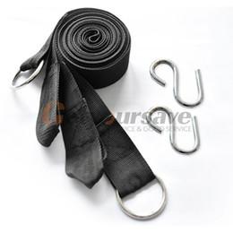 Wholesale Wholesale Roped Hammocks - Wholesale- 2X 3M Strong Strap Belt Hammock Tree Straps Hanging Straps Rope+2 Hooks Vogue