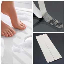 anti slip shower stickers Coupons - Wholesale- New 6PCS Non Slip Shower Strips Pad Flooring Safety Tape Mat Applique Sticker Anti Slip Bath Grip Stickers Bath Tub Shower