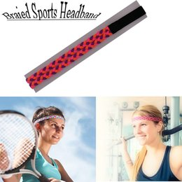 Wholesale Color Braided Elastic Band - Sport Gym Yoga Women Hair Band Rope Sweatband Headband Elastic Double Braided 9 color