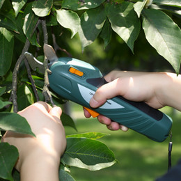 shear cutter Promo Codes - branch cutter EAST Power Tools 7.2V Li-ion Battery Cordless Secateur Branch Cutter Electric Fruit Pruning Tool Shear to Ol Fruit ET1002