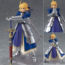 Wholesale Fate Saber Figure - Anime Fate Stay Night Figma227 Ubw Zero Saber Knight Girl Arthur PVC Action Figure Collection Model Toys Doll 15cm