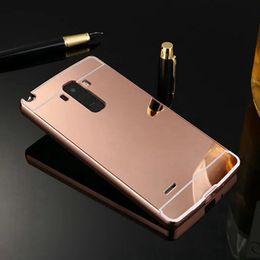 Wholesale Aluminum Case Stylus - Case For LG G4 Stylus G4 Note G Stylo LS770 Mirror Aluminum Rose Gold Back Cover Phone Case For LG G4 Stylus Housing