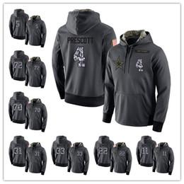 Wholesale Men Plus Size Hoodies - Mens Sweatshirts 4 Dak Prescott 5 Dan Bailey 11 Cole Beasley Salute to Service Player Performance Hoodie