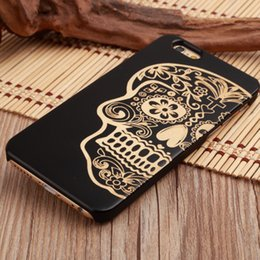 Wholesale Plastic For Engraving - For iPhone all model wood cell phone cases for i Phone 5 5s 6 6s 7 8 plus x laser engrave mobile cover
