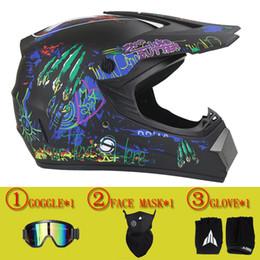 Wholesale Full Face Downhill Helmet - Wholesale- Hot sales motorcycl helmets downhill helmets off-road mountain helmet full face racing helmet free goggles&gloves