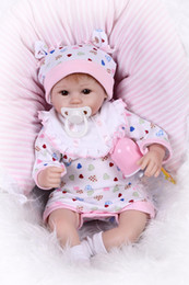 Wholesale Realistic Silicone Baby Doll - lifelike cute reborn lovely premmie baby doll realistic reborn baby playing toys for kids Christmas Gift bebe reborn