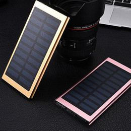 Wholesale Brands Bank - NEW Brand 20000mAh Portable solar power bank Ultra-thin Powerbank backup Power Supply battery Power charger For Smart Phones