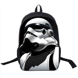 Wholesale European Style Coffee - Wholesale- Star Wars Backpack Jedi Sith Knight Backpack Boys Star Wars School Backpacks For Teens Kids School Bags Kindergarten Backpacks