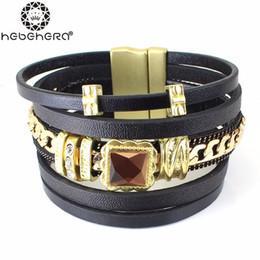 Wholesale Top Handmade Bracelets For Women - Wholesale-Top Quality Statement Handmade Multilayer Chain Metal Line Bracelets Bangles For Women pulseras bijoux