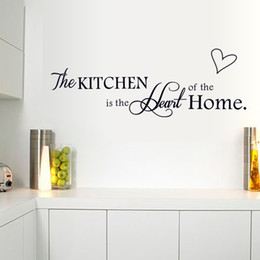 Wholesale Love Hearts Stickers - 15*60cm Love Heart The Kitchen Wall Stickers DIY Art Decal Removeable Wallpaper Mural Sticker for Kitchen Glass