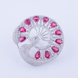 Wholesale Resin Female Figures - Micro - zircon, brooch, peacock, crystal, crystal female ornament, environmental protection pin