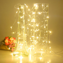 Wholesale Led Battery Box - Wholesale- Quality 6m 60 LED Copper Wire String Light Fairy Lamp 3AA Battery Box With Remote Control Wedding Party Festivals Decoration