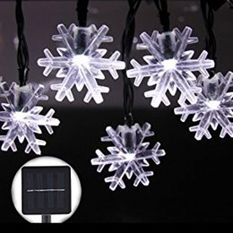 Wholesale Led Flashing Snowflake - Christmas Snowflake String Lights 4.8M 20 LEDS Outdoor Garden Wedding Party Home Decor Decoration Waterproof Lamp