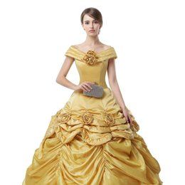 Wholesale Evening Dress Jacket Taffeta - Real Images gold Ball Gown Prom Dresses Vestidos De Novia Tallas Grandes 2018 Taffeta Evening Gowns Custom Made
