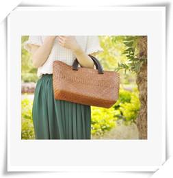 Wholesale Holiday Wholesale Cell Phones - Straw bag Holiday Beach Bag Handbag fashion hand woven straw bag