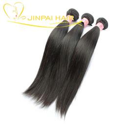 Wholesale Lasting Hair Color - JP Hair 3 Pcs Lot Healthy Virgin Brazilian Straight Hair Extensions Long Lasting Import Human Hair Bundles Cut From Girl