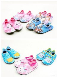 Wholesale Per Dozen - 2017 new children barefoot soft bottom shoes boys and girls beach swim skid diving shoes Per dozen: seven sizes, a color