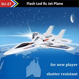 Wholesale Rc Light Kits - Led Light Remote Control Jet Airplanes Kt Foam SU 27 Model Electric Rc Plane Juguetes Drop Shipping