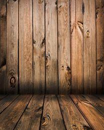 Wholesale Photography Backdrops Floors - 5x7ft Wooden Floor Vintage Newborn Kid Photography Backdrops Vinyl Photo Background Studio Props