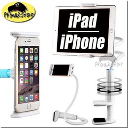 Wholesale Table Arm Pad - Universial Phone Ipad Holder 360 degree Flexible Arm table pad holder stand 80 cm Long Lazy People Bed Desktop tablet mount