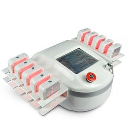 Wholesale Diode Laser Pads - 650nm Lipolaser Laser Lipolysis Fat Burning Laser Slimming Machine Diode Lamps 10 Big pads For Salon Clinic Use