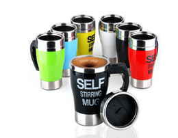 Wholesale Stainless Steel Auto Mug - 350ML Stainless Steel Coffee Cups Lazy Self Stirring Mug Auto Mixing Tea Coffee Cup Office Home Use Christmas Gifts
