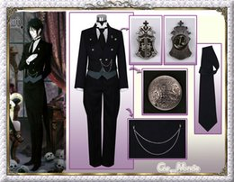 Wholesale Sebastian Anime - Black ministers Sebastian, first, Cali cosplay costume tuxedo role playing