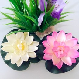 Wholesale Fish Mounting - Floating Lotus Flower 10cm Diameter Fishing Float EVA Artificial Flowers Water Lily for Home Garden Fish Tank Decoration