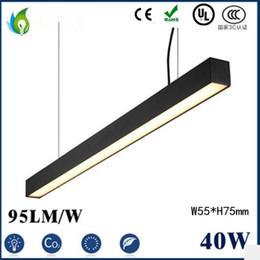 Wholesale Linear Pendant - 40W 48W 60W LED Linear Light 1.2M 1.5M 2M W55*H75mm LED High Bay Light LED Batten Tube with UL CE ROHS