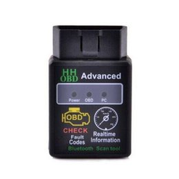 Wholesale HH OBD ELM Advanced Bluetooth ODB2 ODBII Bluetooth V1 Car Auto Diagnostic Scanner Tool