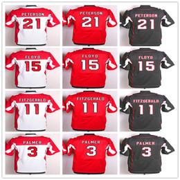 NCAA Haute qualité Elite Jersey21 Patrick Peterson Jersey 3 Carson Palmer 11 Larry Fitzgerald Rouge Noir Blanc Uniformes 15 Michael Floyd Hommes S ? partir de fabricateur