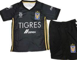 Wholesale Star Shorts Boys - best quality 17 18 kids Mexico club Tigres UANL home 5 stars soccer Jersey Kits 2017 GIGNAC GUERRON 3RD Away black child Football Shirts