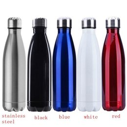 Wholesale Metal Bottle For Water - 500ML Outdoor Water Bottle Cycling Camping Bicycle Sports Thermal Insulation Stainless Steel Bottle For Water Cola Style