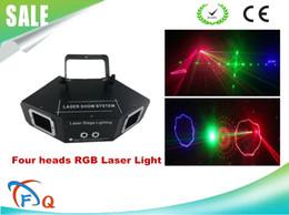 Wholesale Red Eye Usa - new Christmas Decorative 4 eyes 4 lens laser dj light rgb beam pattern animation disco light