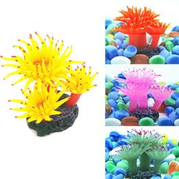 Wholesale Silicone Fish Plant - ASLT Silicone Aquarium Fish Tank Decor Artificial Coral Plant Underwater Ornamen Free Shipping
