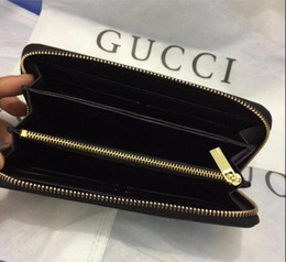 Wholesale Photo Trends - Factory direct European and American fashion trend ladies wallet single zipper cross pattern PU leather hand long wallet