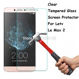"""Wholesale Cleaning Kit Screens - Wholesale-For Letv LeEco Le Max 2 X820 5.7"""" Tempered Glass Screen Protector Ultra Thin Explosion-proof Protective Film + Cleaning Kit"""