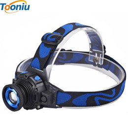 Wholesale Rechargeable Headlight Led - Headlamp Cree Q5 Waterproof LED Headlight High Bright Built-in Lithium Battery Rechargeable Head lamps 3 Modes Zoomable Torch