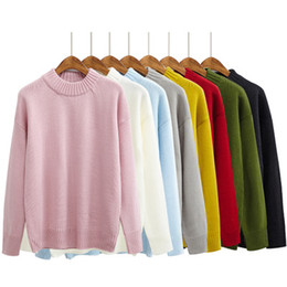 Wholesale Korean Batwing Fashion - Wholesale-8 colors 2016 autumn and winter korean Brief candy solid color turtleneck sweaters womens sweaters and pullovers (A8687)