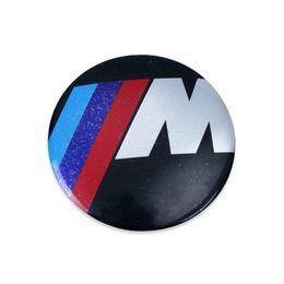 Wholesale Plastic Bonnet - Car M Sport New 82mm Bonnet Badge Logo Emblems Auto Sticker M3 M5 M6 330i 530i D X5 X3 X6 M Sport
