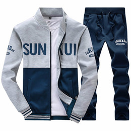 Wholesale Mens Jacket Hoodie Sweatshirt Sweats - Men Sportswear Hoodie And Sweatshirts Autumn Winter Jogger Sporting Suit Mens Sweat Suits Tracksuits Set Jacket with Pants