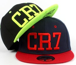Wholesale Kids Hat Adjustable - 2017 New Summer Children Ronaldo CR7 Baseball Cap Hat Boys Girls MESSI Snapback Hats Kids Sports Neymar NJR Hip Hop Caps