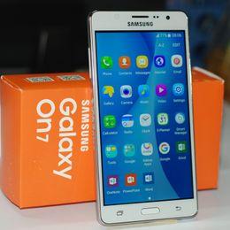 2019 android solo teléfono celular Original reacondicionado Samsung G6000 On7 8G ROM Single sim / Dual sim Quad Core 5.5Inch 1280 * 720 Móviles con pantalla Android6.0 android solo teléfono celular baratos