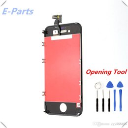 Wholesale iphone 4s full screen replacement - 1Pcs For iPhone 4 4s CDMA LCD Display Touch Digitizer with Strong Frame Full Assembly Replacement (100% Quality AAA+) Free shipping
