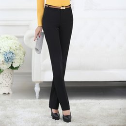 Wholesale Working Clothes Styles For Women - Belt Loop Plus Size Formal Pants for Women Office Lady Style Work Wear Straight Trousers Female Clothing Business Design
